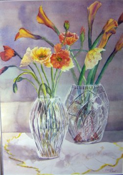 Two Vases with poppies