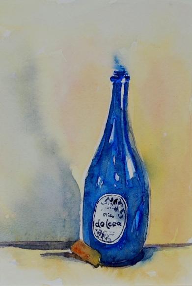 Day 3 Pretty blue bottle