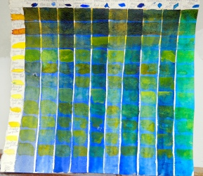 Day 17 Colors Grid for blues and yellows