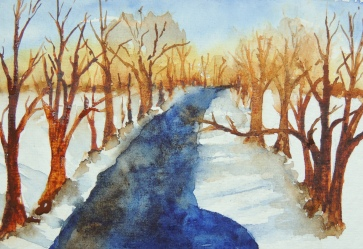 Day 18 Wintery scene with river